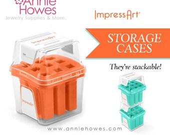 Impressart Stackable Jewelry Stamp Storage Cases for Number Sets.