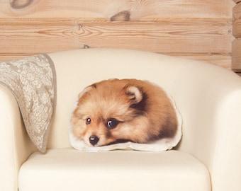 Pomeranian Dog Pillow, Pet Lover Gift For Her, decorative pillow, gift for her, gift for mom