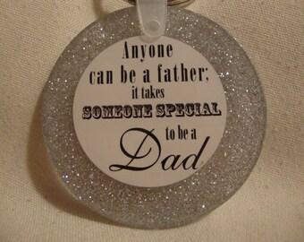 keychain for dad, gift for dad, dad keychain, dad gift, dad items, dad silver keyring, resin keychain, dad decor, handmade keychain, (158 )