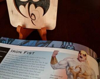 Iron Fist Hand Cut Wooden Deskorations