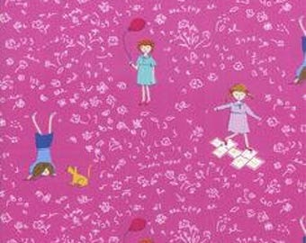 Hello Petal Aneela Hoey Playtime raspberry moda fabric FQ or more