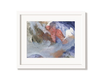 Soft Fluffy Floating Art Print from an Original Abstract Painting
