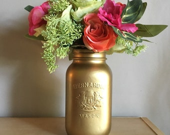 Quart Size Gold Metallic Vase