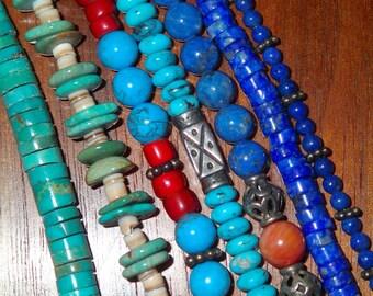Lapis Heshi Bead Necklace
