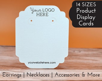 Earring Cards Customized with Your Logo and Text | DS0125