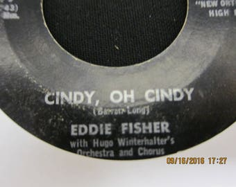 Eddie Fisher - Around the World & Cindy, Oh Cindy - RCA Victor - 45 RPM