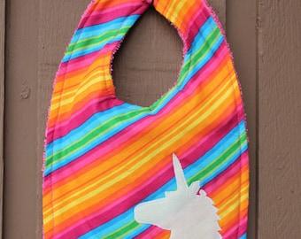 Rainbow Unicorn Bib