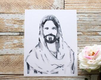 PRINTABLE Watercolor Christ Portrait// Christ Portrait// Christ Painting// Jesus Christ Painting// Christ Print