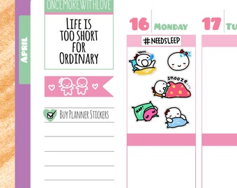 Munchkins - Naptime and Sleep Planner Stickers (M118)