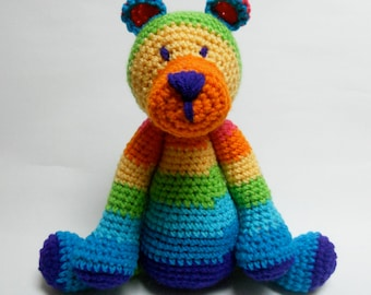 Crochet Rainbow Teddy Bear