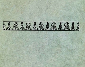 Foliage Neoclassical Mini Border - Antique Style Clear Stamp