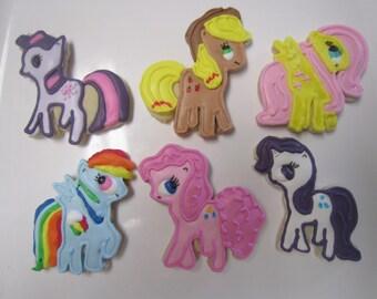 12 or 18 My Little Pony Fan Art Cookies