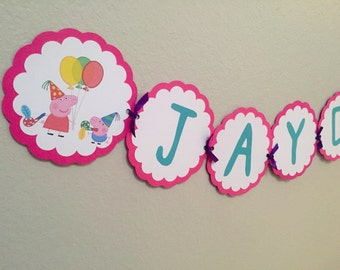 Peppa Pig • Birthday Banner • Party Decoration