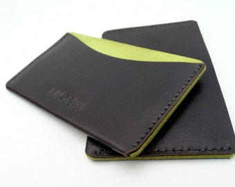 Card Factory, Business Card Holders, Leather case for business cards and credit cards, Yellow