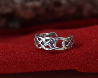 Sterling silver celtic knot earring cuff