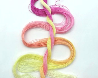 "Size 80 ""Peace"" hand dyed thread 6 cord cordonnet tatting crochet cotton"