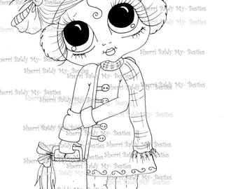 INSTANT DOWNLOAD Digital Digi Stamps Big Eye Big Head Dolls Img0942 Bestie By Sherri Baldy