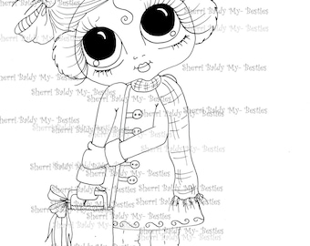 INSTANT DOWNLOAD digitale Digi Stamps Big Eye Big hoofd poppen Img0942 Bestie door Sherri Baldy
