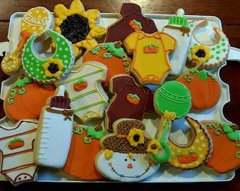 Lil' Pumpkin Baby Shower Cookies