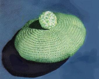 Baby Crochet Pattern, SIMPLE Crochet Baby Hat Pattern, Crochet Baby Boy Beret Hat Pattern, INSTANT Download Pattern PDF (1328)