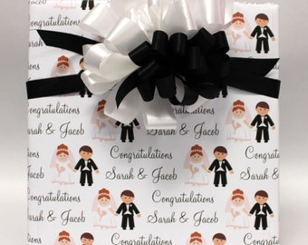 Personalized Wedding/Shower Wrapping Paper