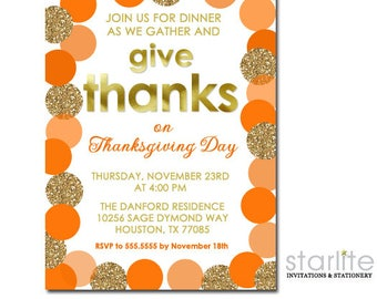 thanksgiving invitations instant download editable