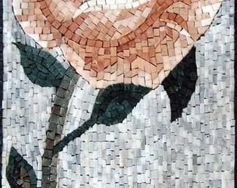 Rose Flower Mosaic Pattern