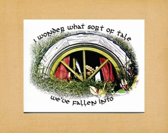 "LOTR, What Sort of Tale, Lord of the Rings, Hobbit, Tolkien, Blank Note Card, Greeting Card, Stationery, A2, 5.5"" x 4.25"""