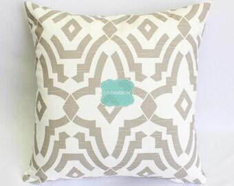 Pillow Cover - Premier Prints - SHEFFIELD - Ecru White - Home Decor Decorative Sofa Throw Pillow-Cover with Zipper Enclosure - All Sizes