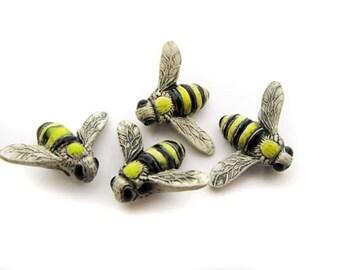 4 Large Bumblebee Beads - LG27