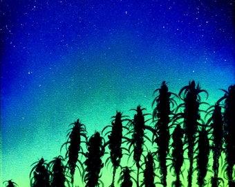 SIGNED cannabis field print