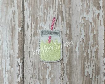 Lemonaid/Sweet Tea Mason Jar Felties- (set of 4) UN-CUT