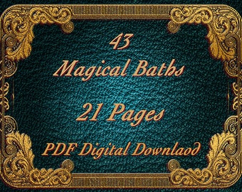 Magical Baths, Bath Salts & Herbs Book Of Shadows Pages, BOS Pages, Witchcraft, Spells