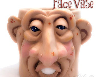 Polymer Clay Face Vase Tutorial - Learn How to Sculpt a Fantasy Face