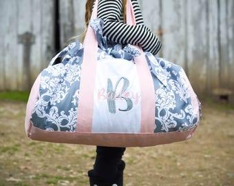 Easter gift for girl etsy girls dance bag girls duffel bag overnight bag for kids easter gift for negle Choice Image