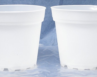 Clear Plastic Teku Pot for Orchids 4 inch Diameter - Quantity 2