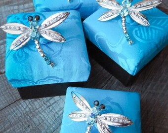 4 Dragonfly Brooches Gift Set #5916