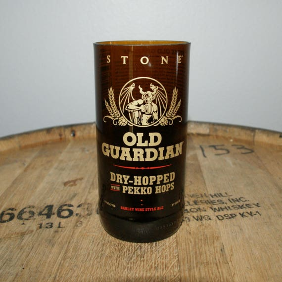 UPcycled Pint Glass - Stone Brewing Co. - Old Guardian Dry-Hopped with Pekko Hops