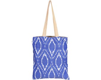 JOLA Handloom Cotton eco friendly Reversible Shopping Tote Bag