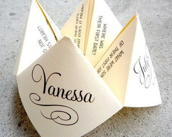 Unique Custom Wedding Cootie Catcher Designs by DarlingGirlPaper