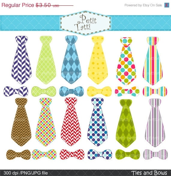 ON SALE Necktie clip art ties clip art onesie clip art