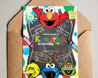 SESAME STREET 2nd Birthday Invitation