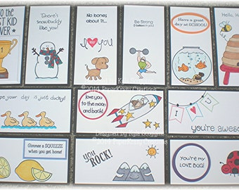 NEW! Series 18(a) Lunch Box Love Notes, Lunch Notes for Kids, Lunch Box Notes
