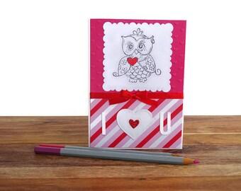 I love you, I love you gifts, I love you card, Owl card, Valentines card, Happy valentines day card, Valentines gift, Love card,  Cards