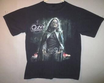 Ozzy Osbourne T Shirt, Black Rain Tour, No Label, Good Condition...large