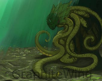 The Kraken At Rest, High Quality Art Print