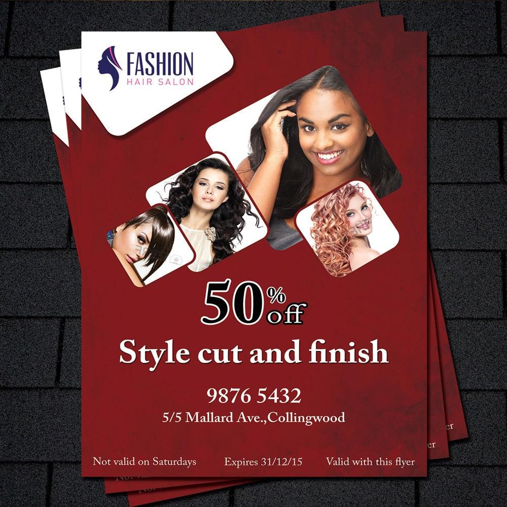 Printable Flyer Template, Hair Salon Flyer, Beauty Salon Flyer Template,  Business Promotion,