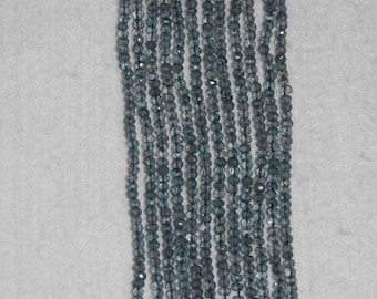 Quartz, Paraiba Quartz, 3.5 mm, Faceted Bead, Blue Quartz, Natural Stone, Semi Precious Bead, Faceted Quartz, Full Strand, AdrianasBeads