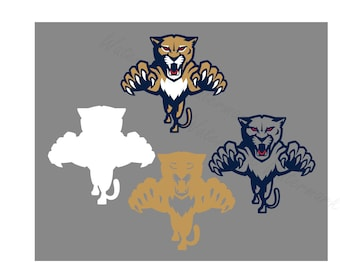 Florida SVG & Studio 3 Cut File Cutouts Files Logo Stencil for Silhouette Cricut Decal SVGS Stencils Decals Team Panthers Panther Hockey