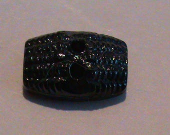 set of 6 small shiny black buttons fantasies